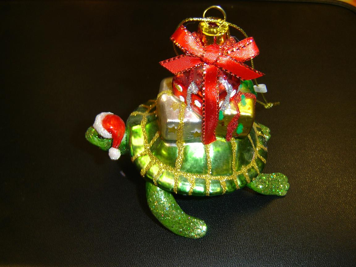 Sea Turtle and Turtle Christmas Ornament Gifts