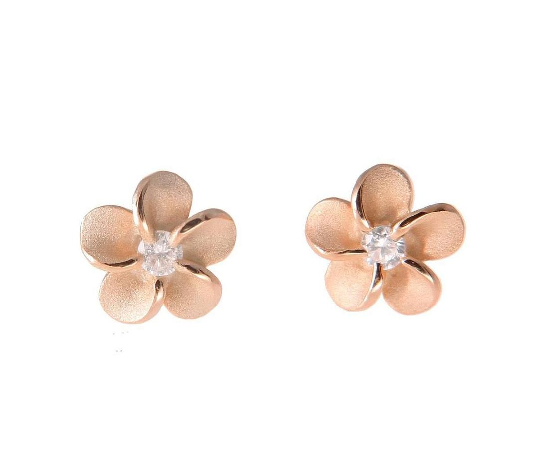 925 Sterling Silver Plumeria Flower Jewelry Earrings And Gifts