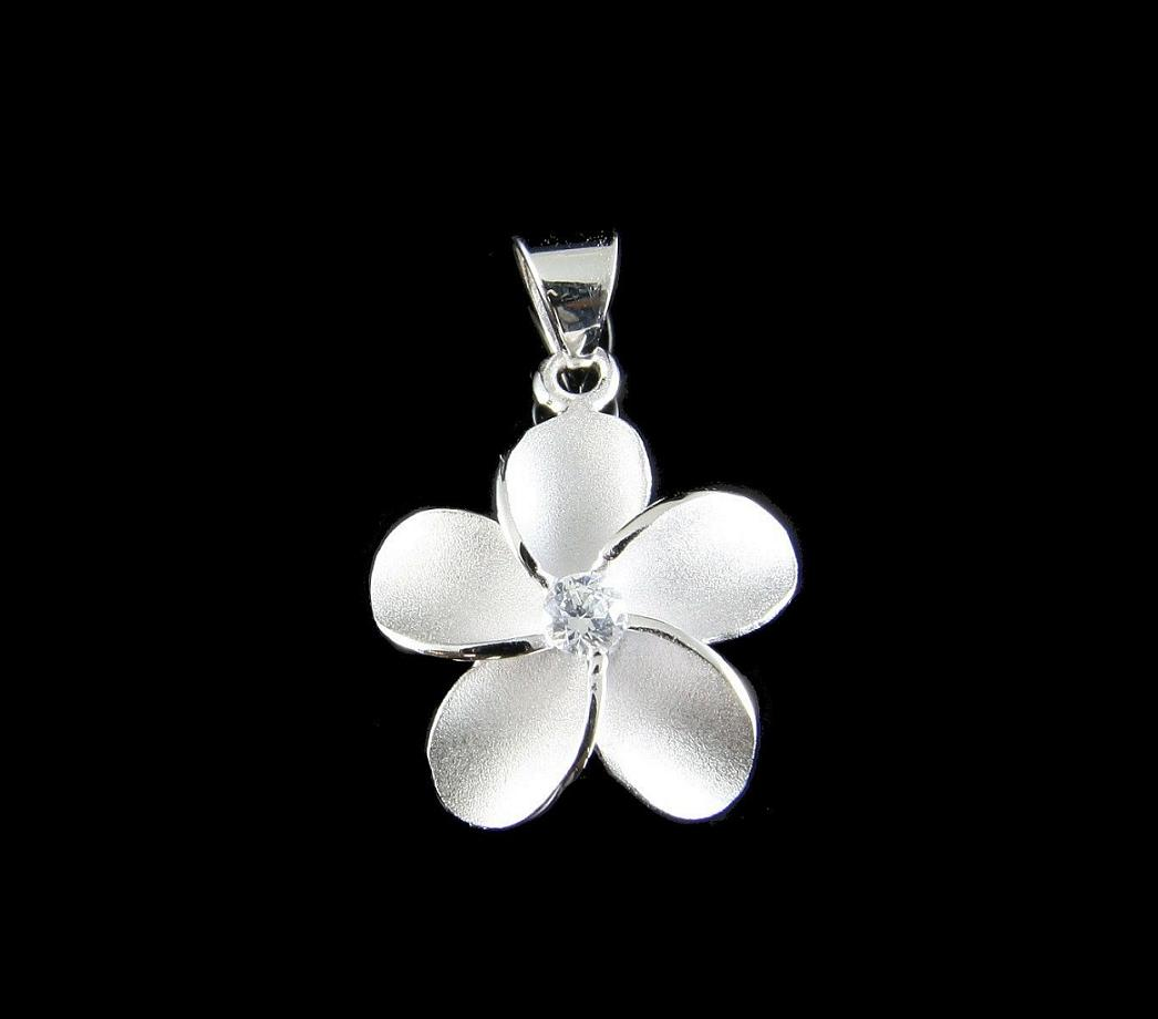 and charms flower gifts plumeria anklet sterling pp silver pendants jewelry