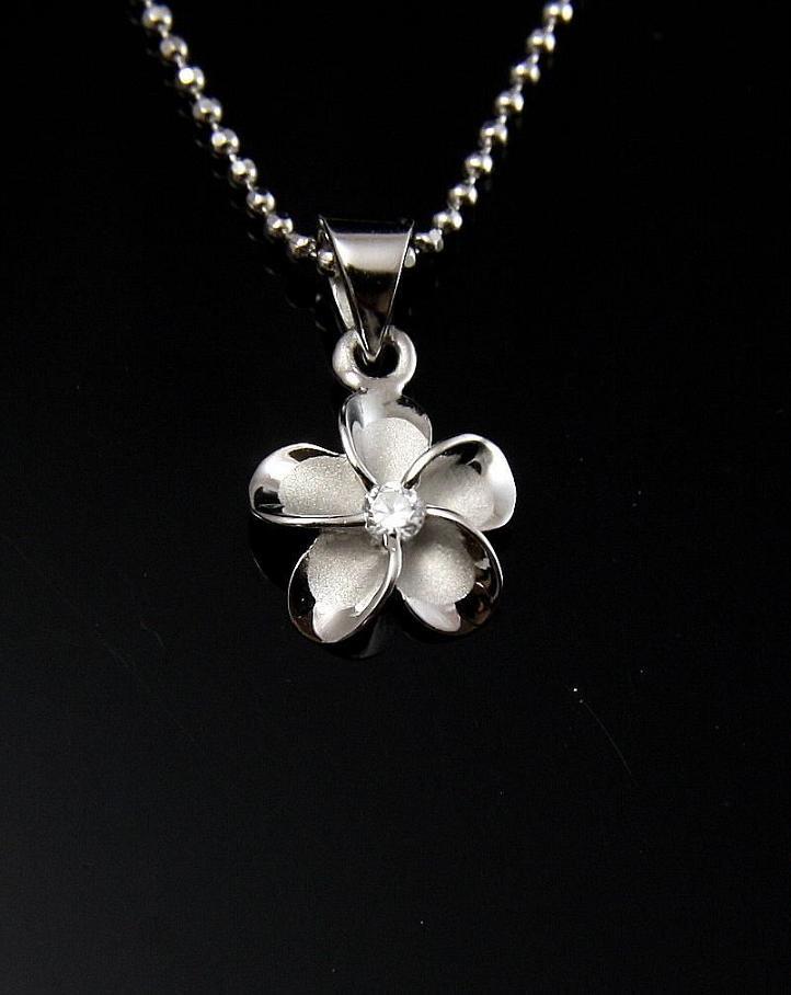 925 sterling silver plumeria flower jewelry pendants