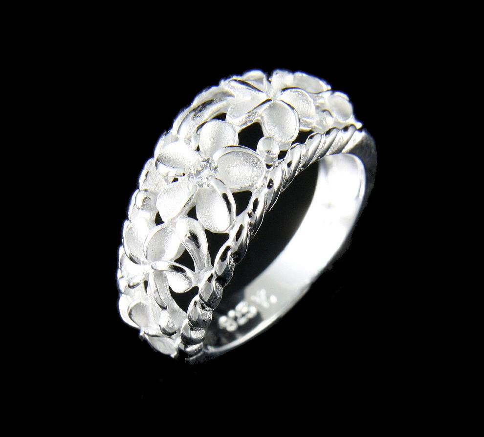 925 sterling silver plumeria flower jewelry rings and gifts izmirmasajfo