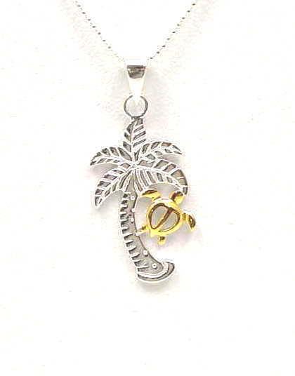 925 Sterling Silver Palm Tree Jewelry Pendants Earrings