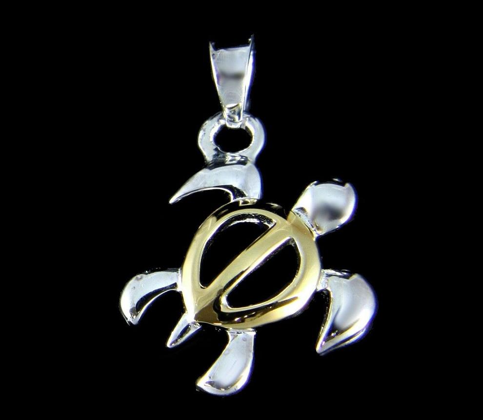 Sterling silver honu and sea turtle jewelry pendants and charm gifts aloadofball Images